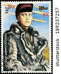 guinea   circa 1998  a postage... | Shutterstock . vector #189237257