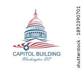 united states capitol building... | Shutterstock .eps vector #1892390701