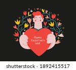 man giving a heart   valentines ... | Shutterstock .eps vector #1892415517