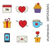 love and valentine icons set... | Shutterstock .eps vector #1892432641