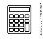 calculator icon vector. savings ... | Shutterstock .eps vector #1892458327