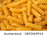 Close Up Raw Pasta Background....
