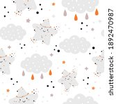 seamless pattern with clouds ... | Shutterstock .eps vector #1892470987