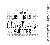 christmas lettering quote.... | Shutterstock . vector #1892477044