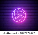 glowing volleyball ball. color...