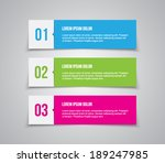 set of paper banners   tags for ... | Shutterstock .eps vector #189247985