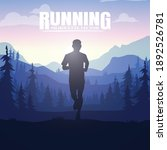 running silhouettes vector... | Shutterstock .eps vector #1892526781
