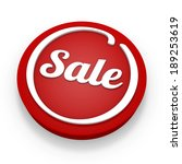 red round sale button on white... | Shutterstock . vector #189253619