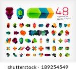 blank geometric banner design... | Shutterstock . vector #189254549