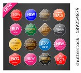 illustration set of tag. | Shutterstock .eps vector #189254879