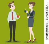 businesswoman and businessman... | Shutterstock .eps vector #189256364