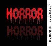 horror logo design vector stock | Shutterstock .eps vector #1892568277