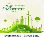 world environment day concept... | Shutterstock .eps vector #189261587