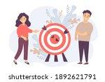 a man and a woman near a target ... | Shutterstock .eps vector #1892621791