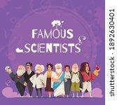famous scientists composition... | Shutterstock .eps vector #1892630401