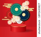 oriental chinese style display... | Shutterstock .eps vector #1892633827