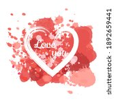 hearts is blot isolated on... | Shutterstock .eps vector #1892659441