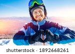 Happy Male Athlete Skier Smiles ...