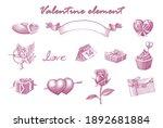 valentine element hand draw... | Shutterstock .eps vector #1892681884