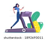 happy woman running on...   Shutterstock .eps vector #1892693011