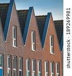 Modern terraced Real Estate - stock photo