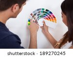 Young Couple Choosing Color Fo...