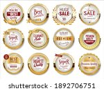 collection of golden badges... | Shutterstock . vector #1892706751