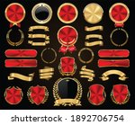 collection of golden badges... | Shutterstock . vector #1892706754