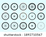 bicycle wheels with spokes...   Shutterstock .eps vector #1892710567