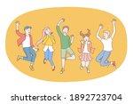 children  friendship  happiness ...   Shutterstock .eps vector #1892723704