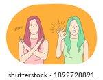 sign language  gestures  hands... | Shutterstock .eps vector #1892728891