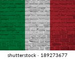 Italy  Italian Flag On Brick...
