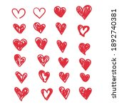 doodle hearts  hand drawn love... | Shutterstock .eps vector #1892740381
