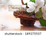 white flowers  basket and... | Shutterstock . vector #189275537