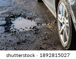 Car Wheel Close Up Near A...