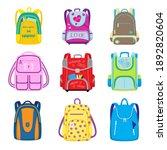 elementary school backpacks set.... | Shutterstock .eps vector #1892820604