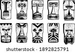 maya masks collection. clip art ... | Shutterstock .eps vector #1892825791