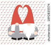 couple of gnomes in vector... | Shutterstock .eps vector #1892835574