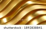 wavy golden ribbons. minimalist ... | Shutterstock .eps vector #1892838841