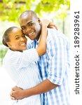 beautiful young black couple...   Shutterstock . vector #189283961