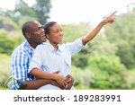 carefree african couple in the...   Shutterstock . vector #189283991