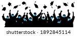 masked graduates. graduates... | Shutterstock .eps vector #1892845114