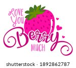i love you berry much  i love... | Shutterstock .eps vector #1892862787