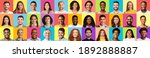 portraits collage with happy... | Shutterstock . vector #1892888887