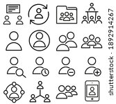 user icon vector set. people... | Shutterstock .eps vector #1892914267