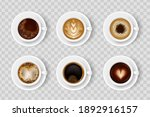 realistic coffee cup set with... | Shutterstock .eps vector #1892916157