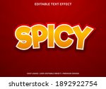 spicy text effect with bold... | Shutterstock .eps vector #1892922754