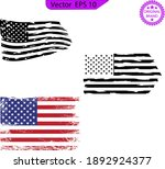 usa flag. distressed american... | Shutterstock .eps vector #1892924377