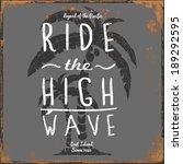 set of summer   surfing design  ... | Shutterstock .eps vector #189292595