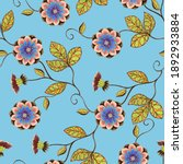 decorative flowers drawing in... | Shutterstock . vector #1892933884